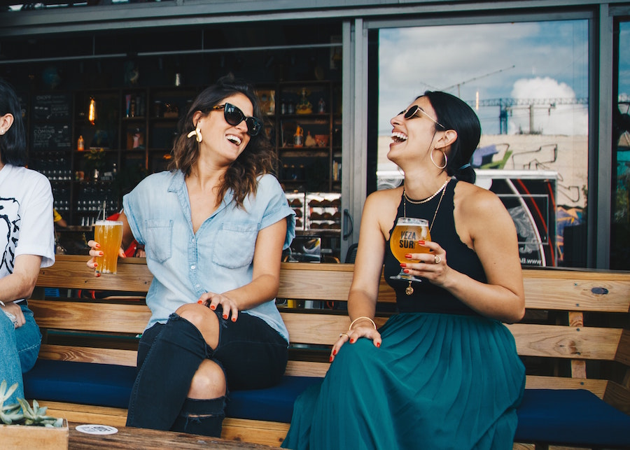 Women enjoying beer at one of the gold coast fall events