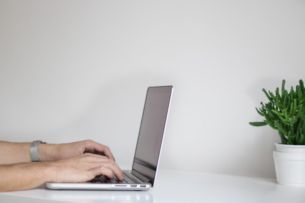 Using a laptop to prep for the selling season